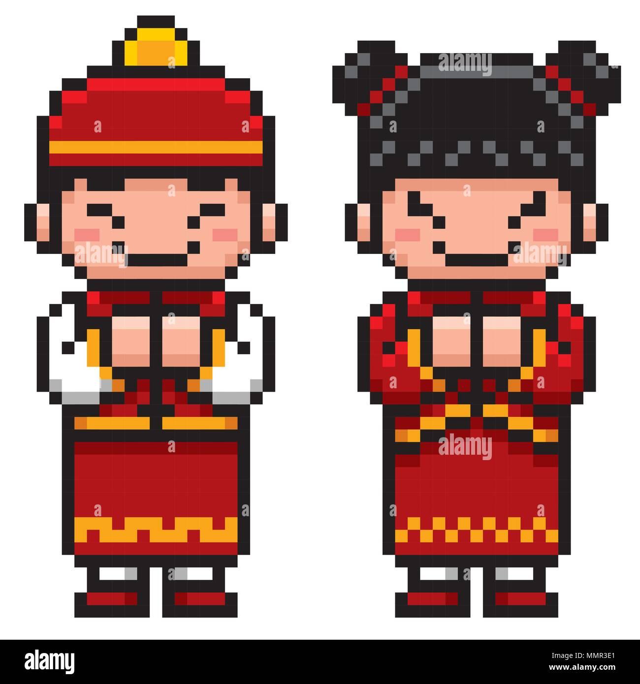 Vector Pixel Art Kids Character Stock Photos & Vector Pixel Art Kids ...