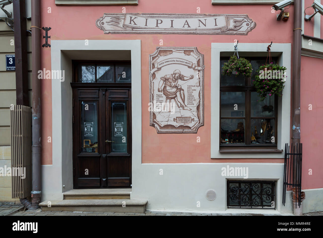 RIGA, LATVIA - NOVEMBER 23, 2014. Shop Kipiani, shoe store. Latvia, Riga - Stock Image