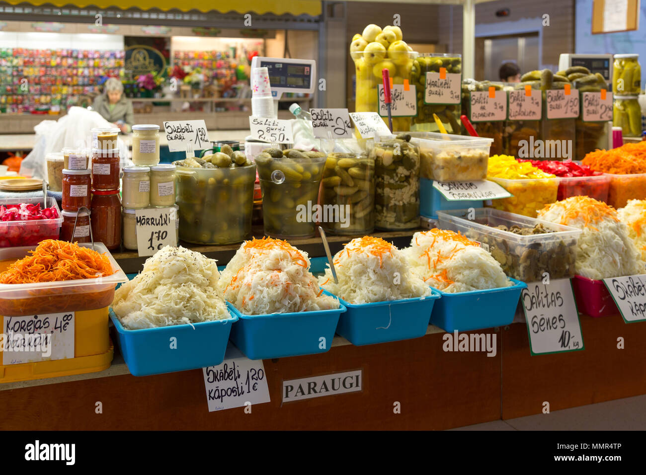 Riga central market - Stock Image