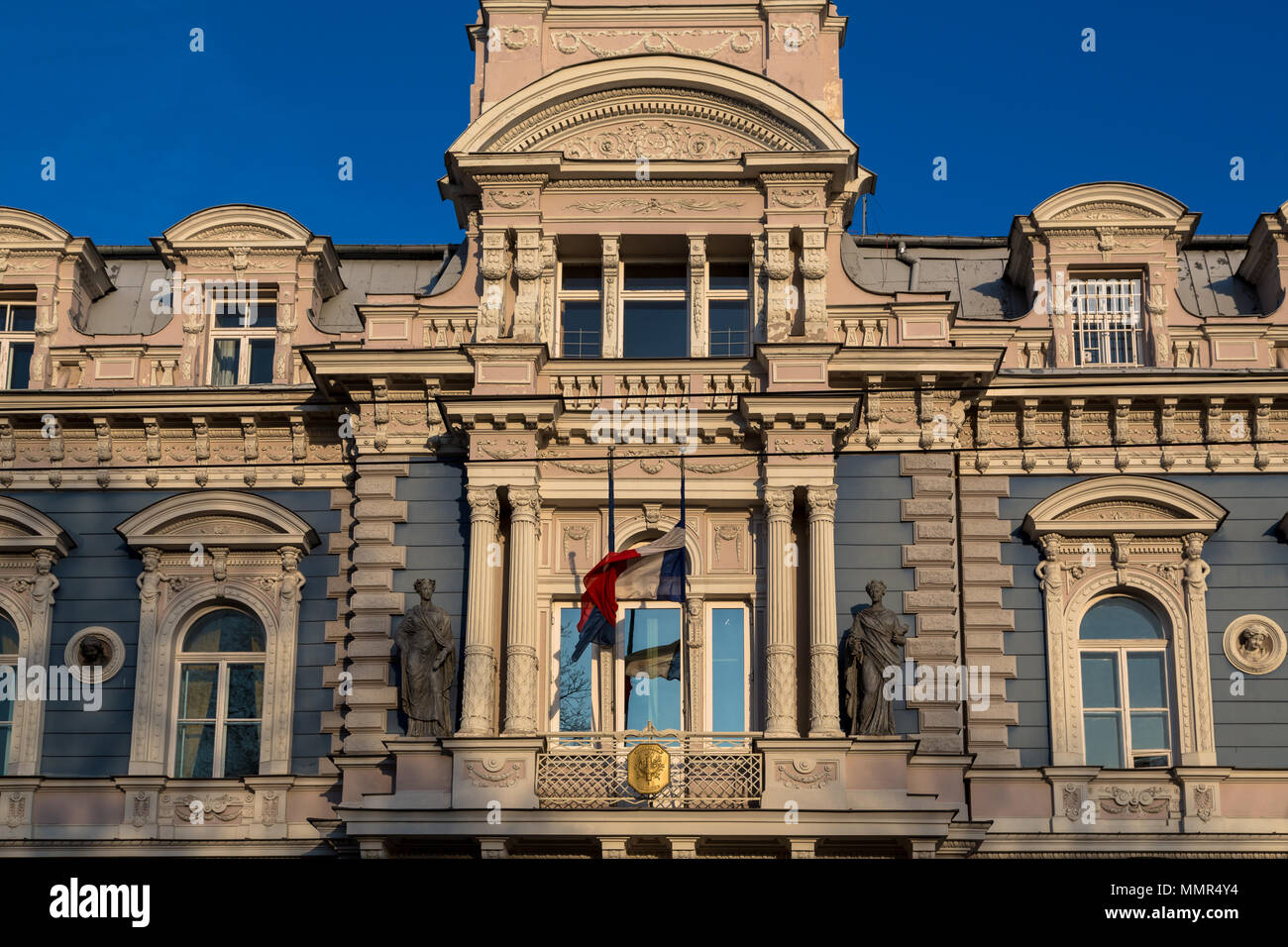 Latvia, Riga, Embassy of France - Stock Image