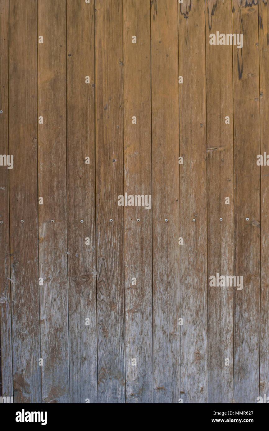 Old Weathered Wooden Planks Texture - Stock Image