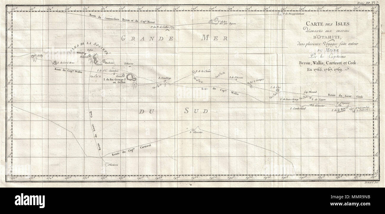 Carte Du Monde Tahiti.English This Is A Fine Map Shows The Explorations Of Captain Cook