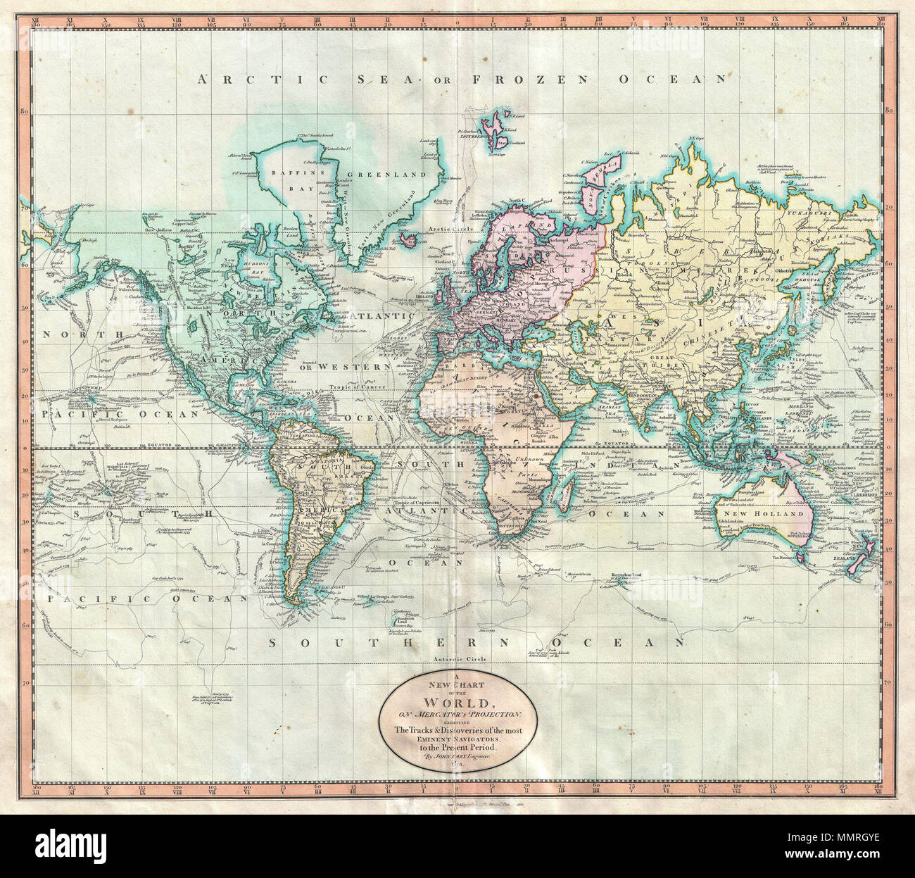 English john carys wonderful 1801 map of the world on mercators english john carys wonderful 1801 map of the world on mercators projection details the entire world as it was known at the turn of the 19th century gumiabroncs
