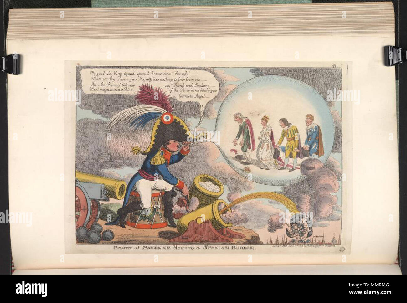 Satire On The Peninsular War British Political Cartoon