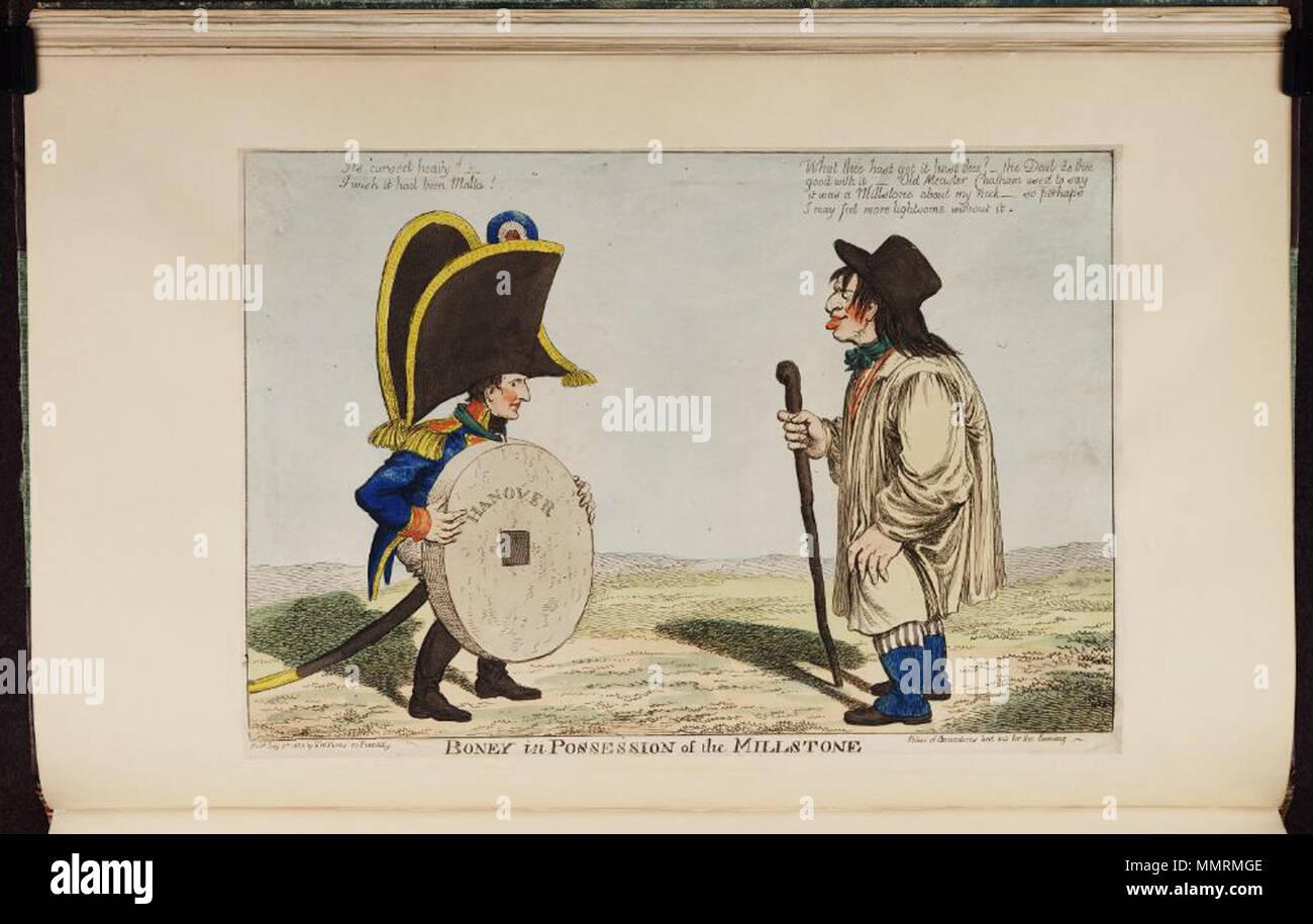 Caricature of Napoleon I  (British political cartoon