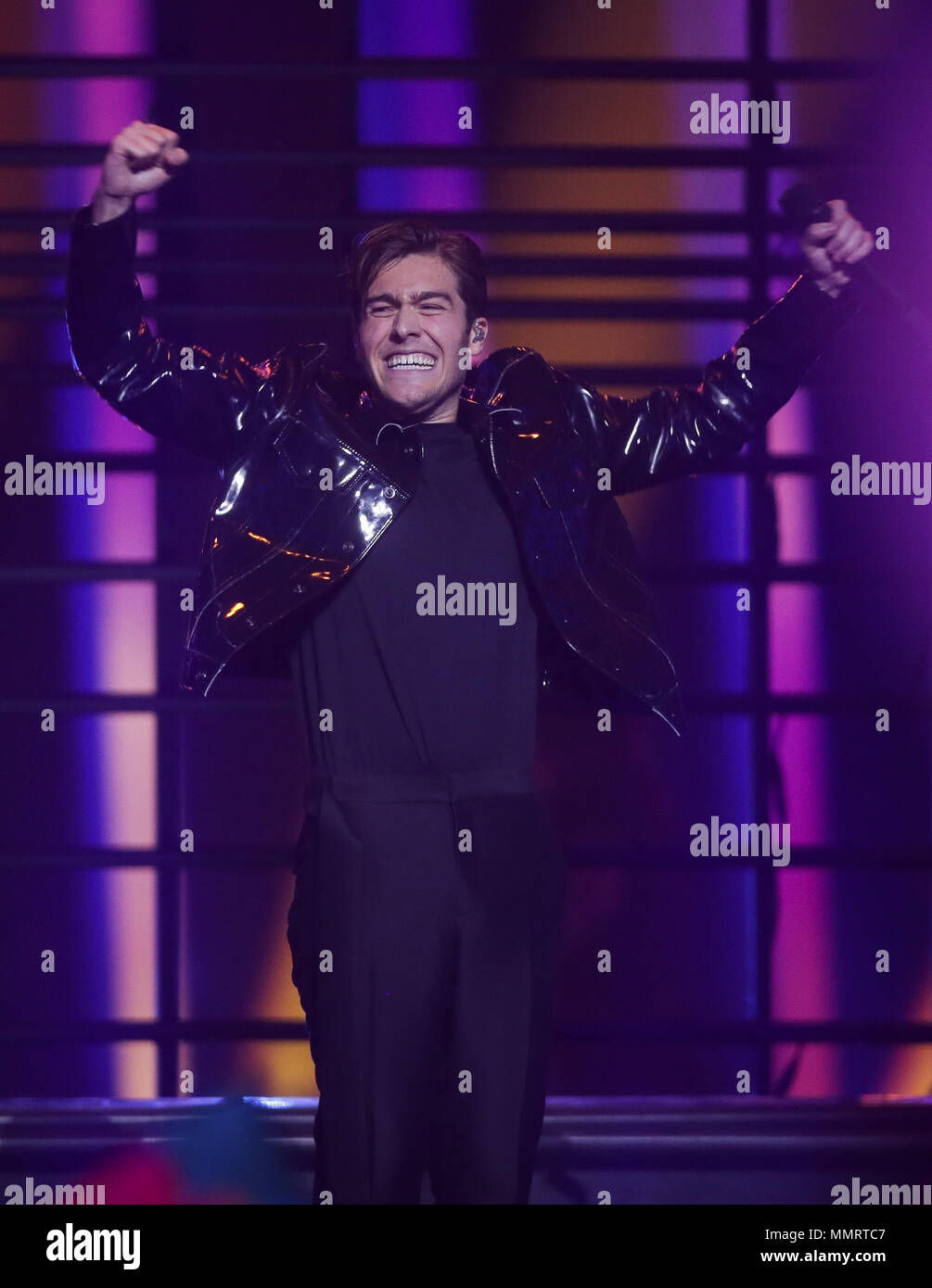 12 May 2018 Portugal Lisbon Sweden S Benjamin Ingrosso Performs Dance You Off At The Finals Of The 63rd Eurovision Song Contest Photo Jörg Carstensen Dpa Stock Photo Alamy