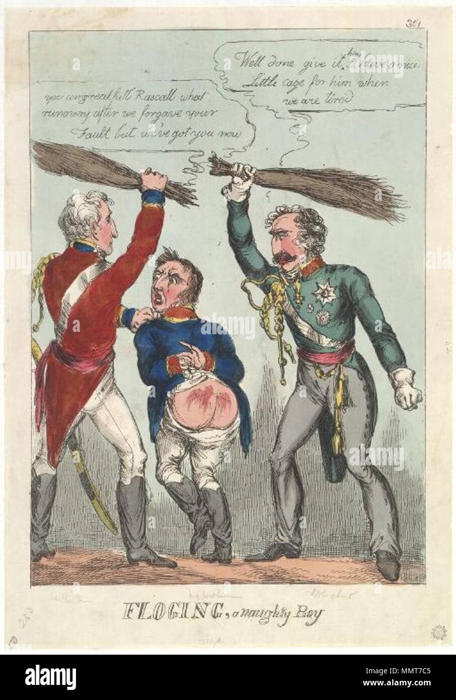 Satire on the Battle of Waterloo  (British political cartoon