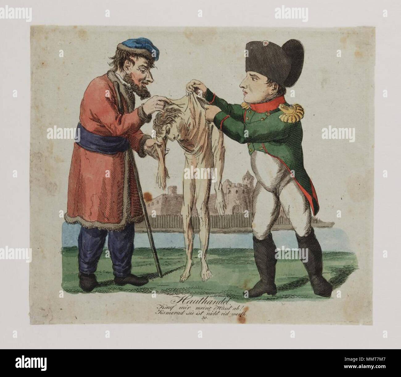 . German political cartoon; Numbered: 30;  Hauthandel: Kauf mir meine Haut ab! Kamerad sie ist nicht viel werth. June 1797. Bodleian Libraries, Hauthandel- Kauf mir meine Haut ab Kamerad sie ist nicht viel werth - Stock Image