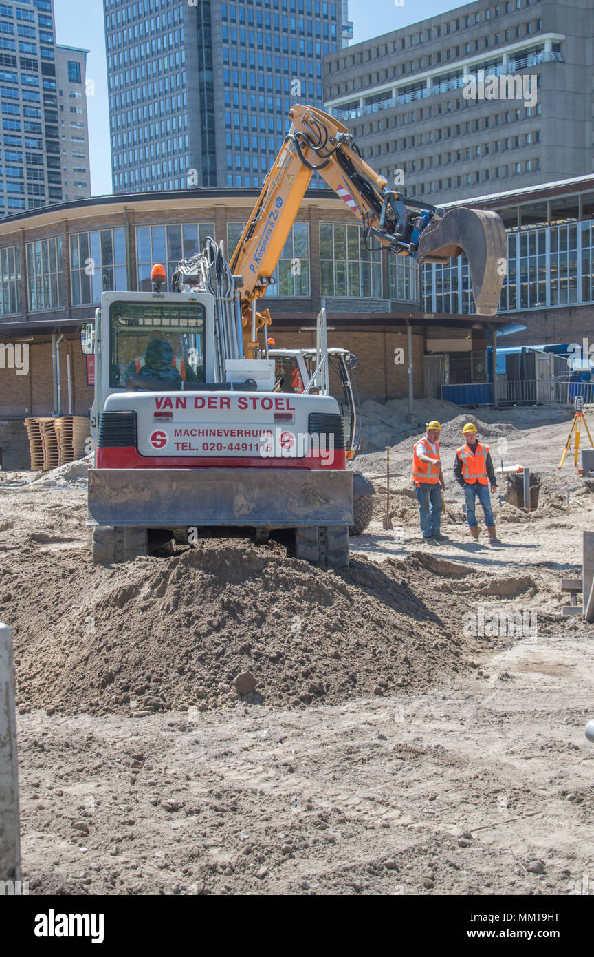 Work In Progress At The Amstel Station Amsterdam The Netherlands - Stock Image