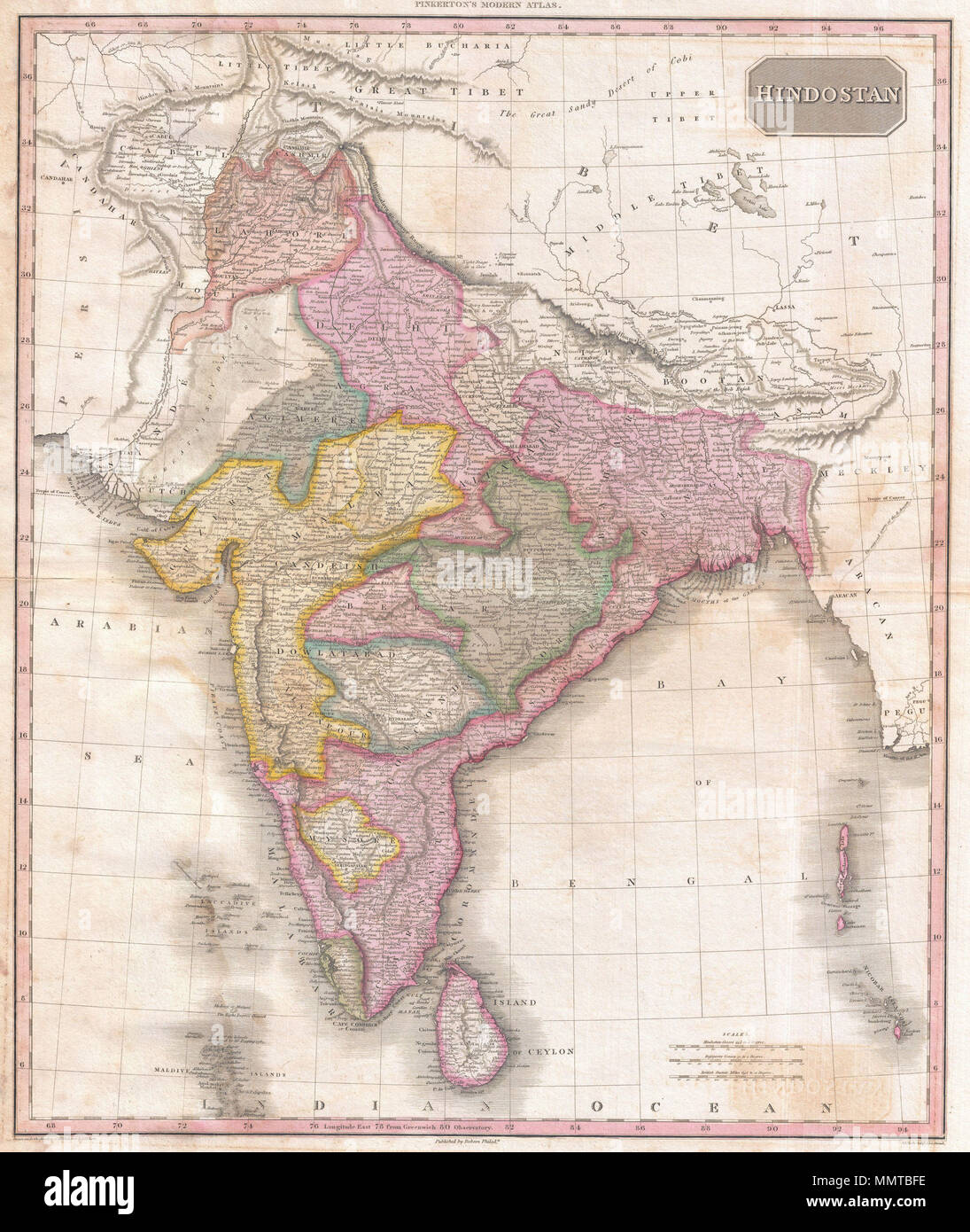 English: John Pinkerton's highly decorative map of India ... on strasbourg map, gstaad map, basel map, hanover map, swiss alps map, zermatt map, dissolution soviet union map, lugano map, wald map, stockholm sweden map, verbier map,