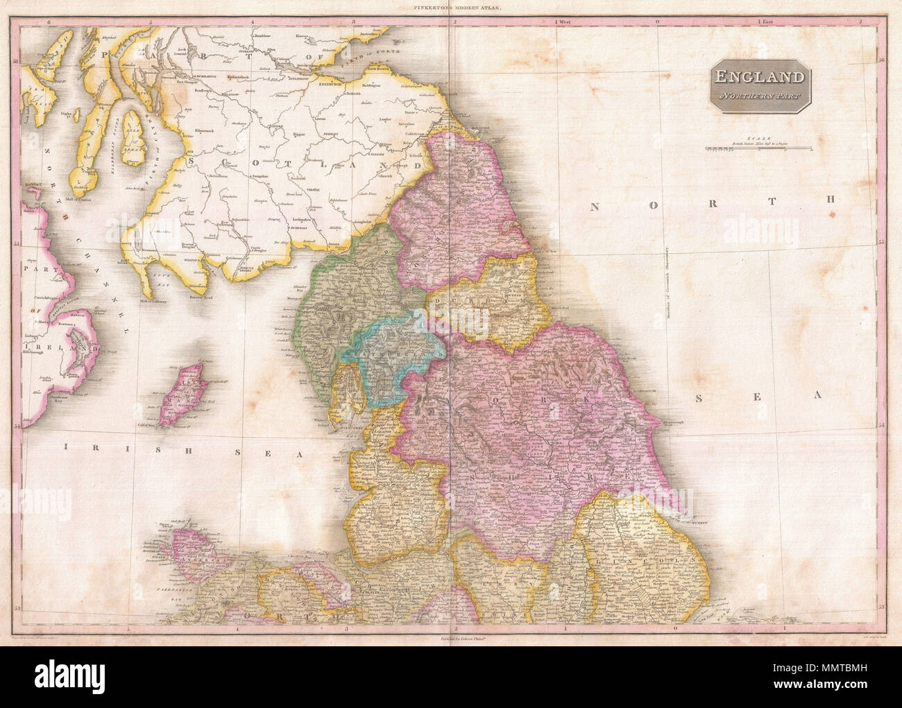 English Pinkerton S Extraordinary 1818 Map Of The Northern Part Of