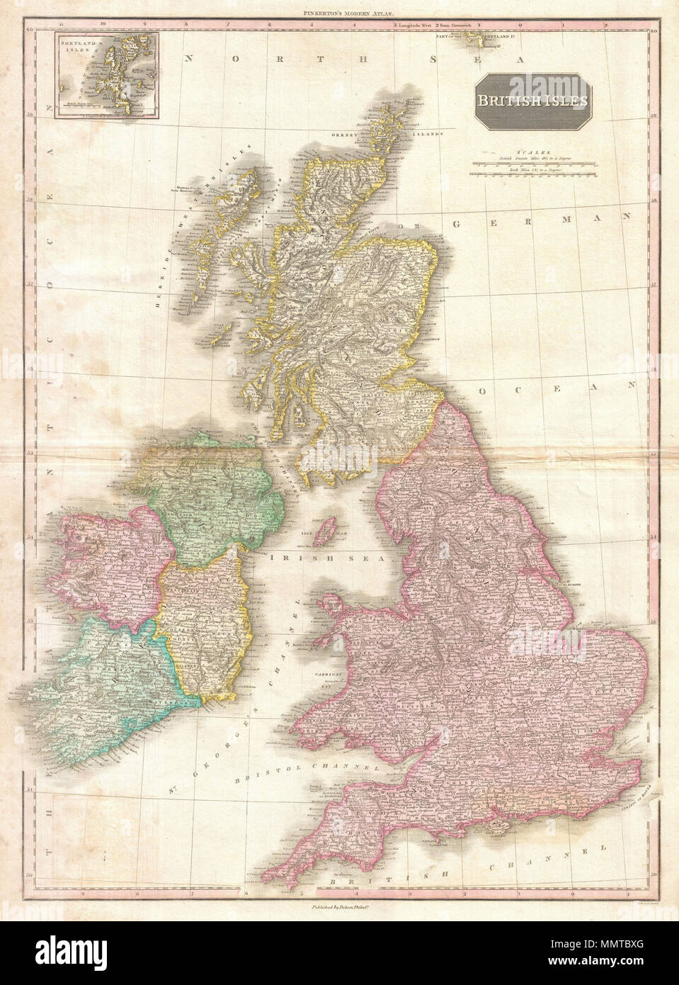 English Pinkerton S Extraordinary 1818 Map Of The British