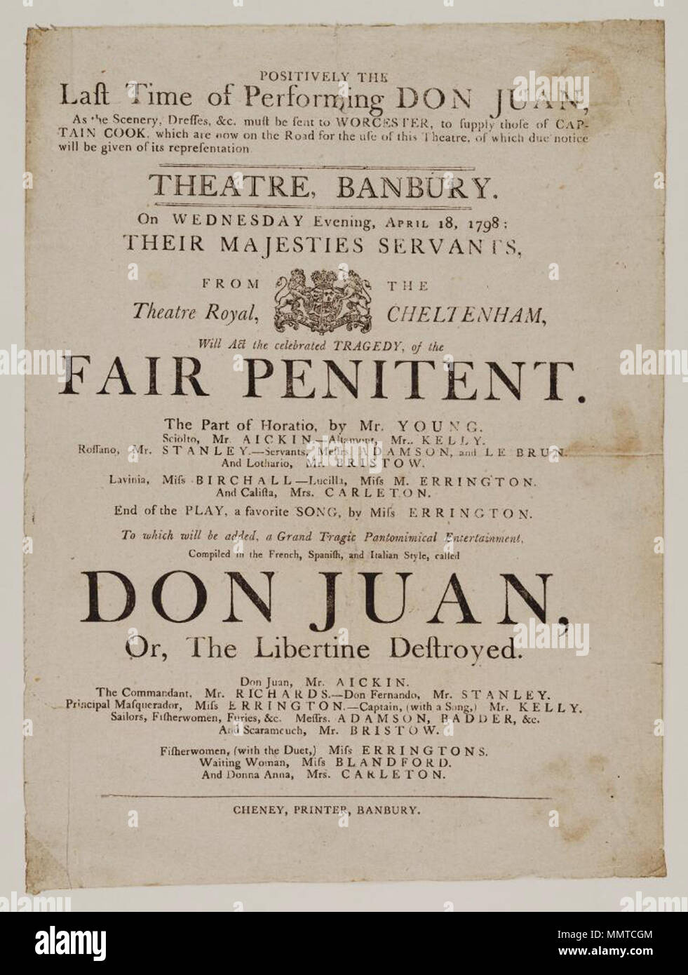 the fair penitent playwright