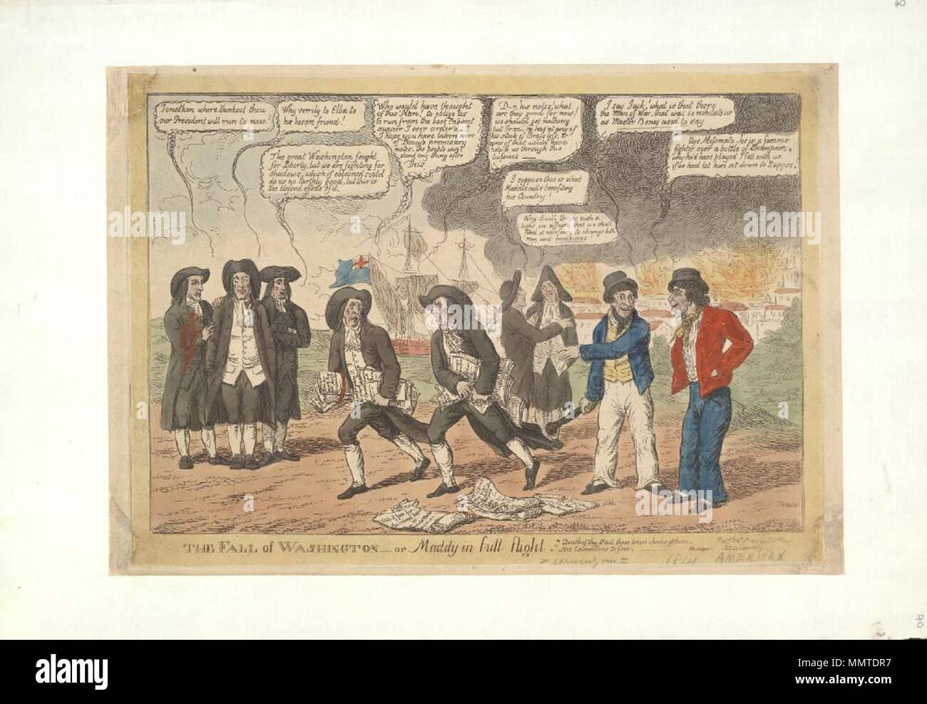 Satire On The War Of 1812 British Political Cartoon English