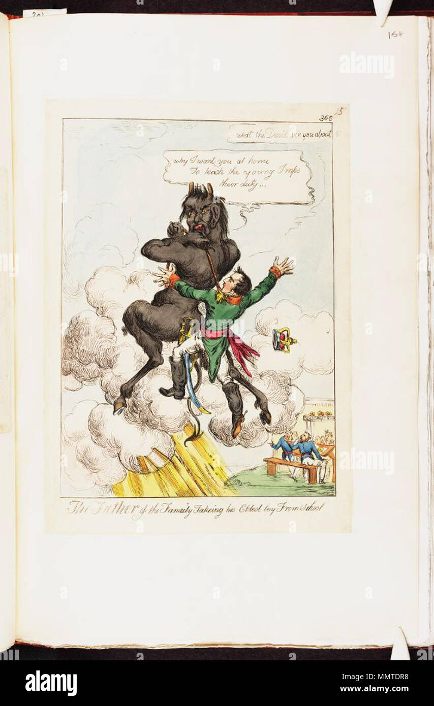 Satire On Napoleon S Exile To Elba British Political Cartoon