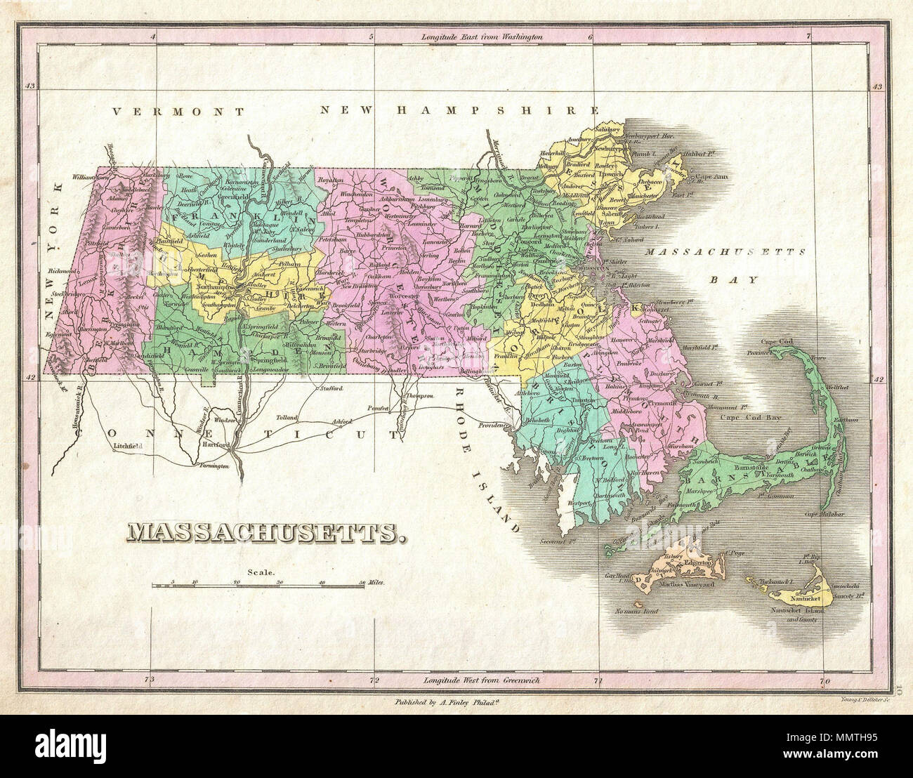 English: A beautiful example of Finley's important 1827 map