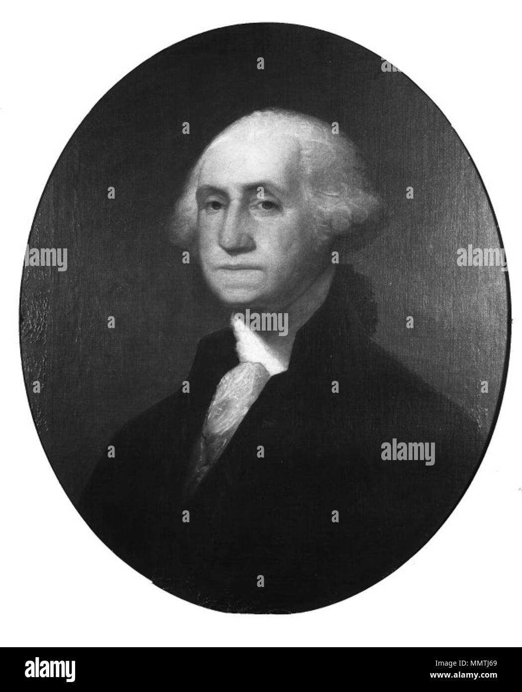 George Washington (after Gilbert Stuart). circa 1860. Brooklyn Museum - George Washington (after Gilbert Stuart) - James Frothingham - overall Stock Photo