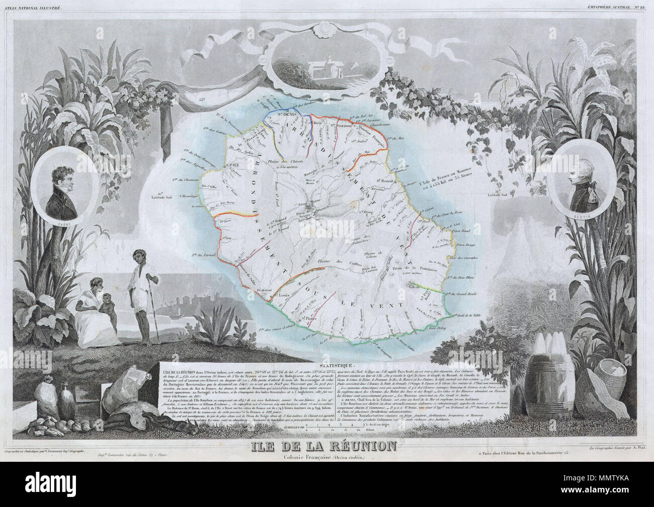 Carte Statistique Madagascar.English This Is A Fascinating 1850 Map Of The French Island