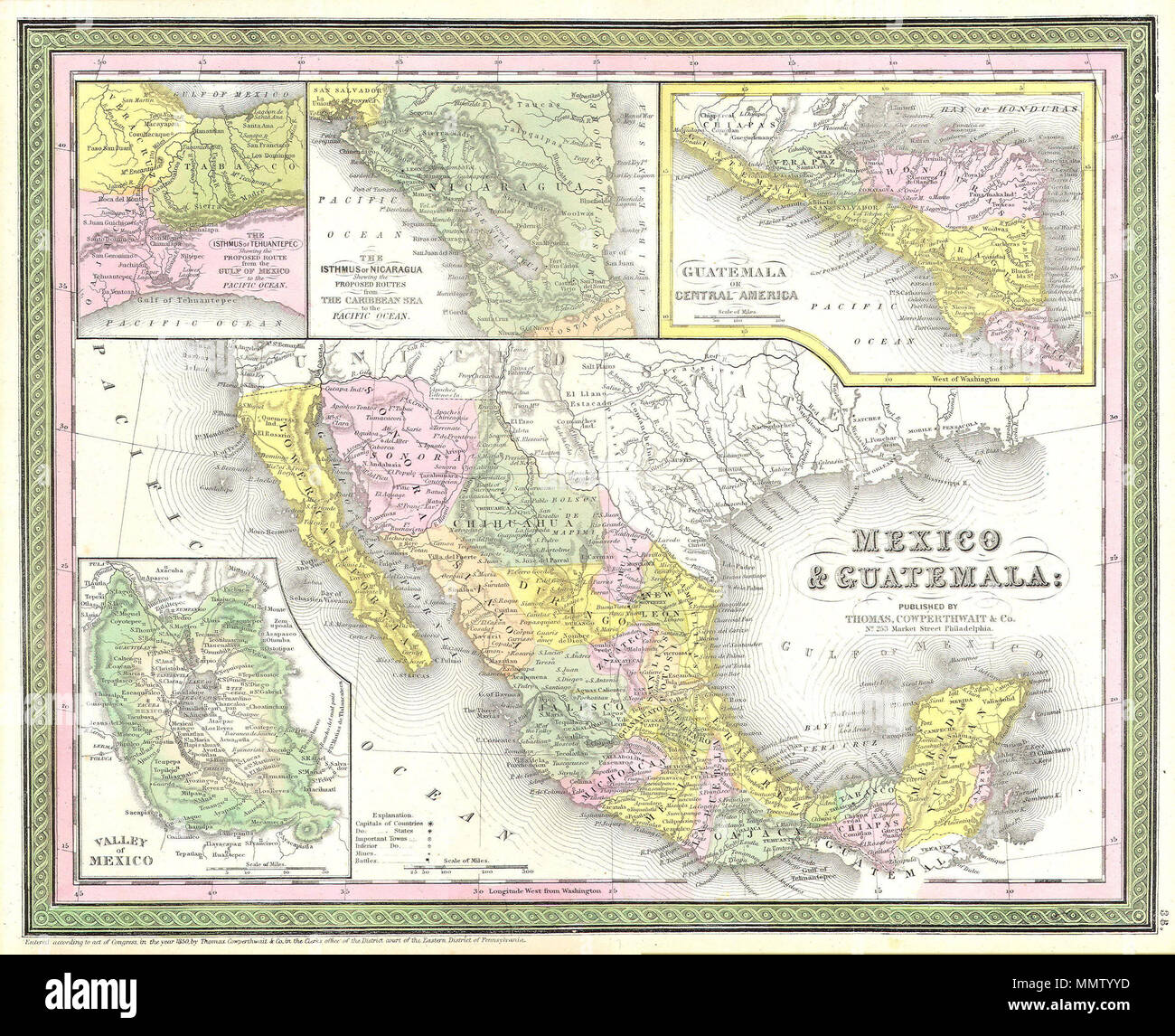 English This Scarce Hand Colored Map Is A Lithographic Engraving Of