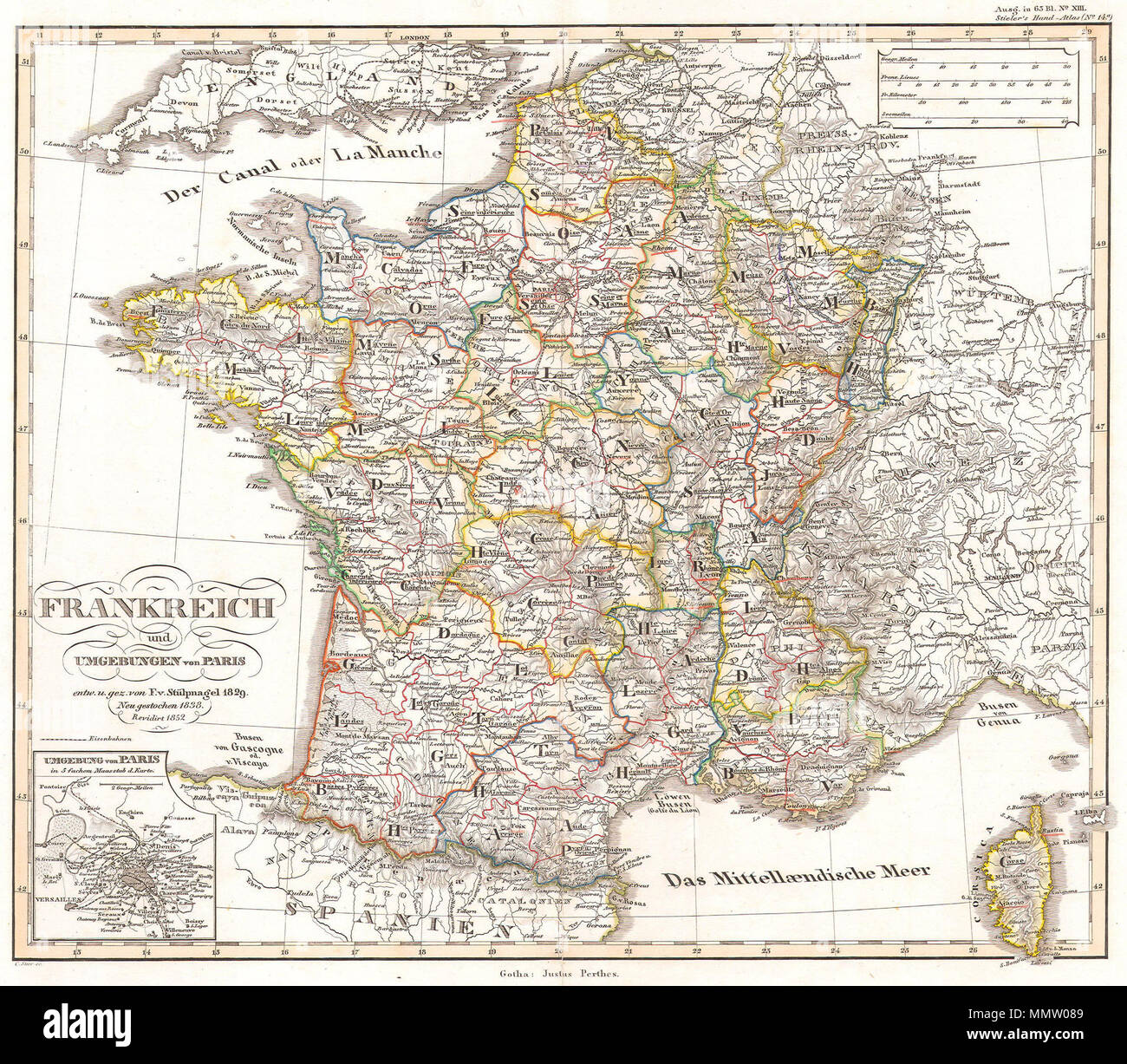 English Map Of France.English This Fascinating Hand Colored Map Depicts The French Empire