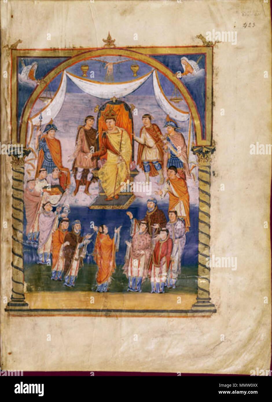 . Français: Charles le Chauve  . 845. Saint-Martin de Tours Charles the Bald - Stock Image