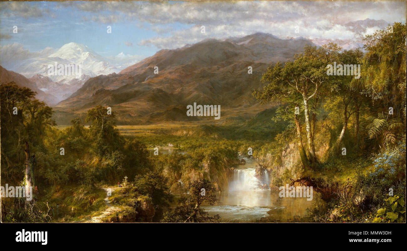 .  English: The Heart of the Andes by Frederic Edwin Church (1826–1900)  The Heart of the Andes. 1859. Church Heart of the Andes Stock Photo