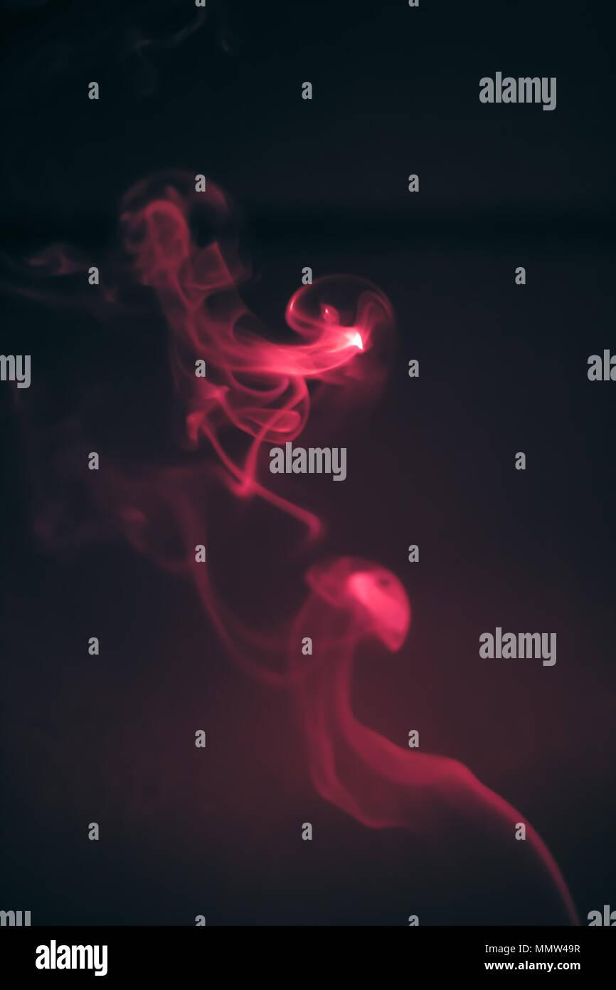 smoke shapes abstract - Stock Image
