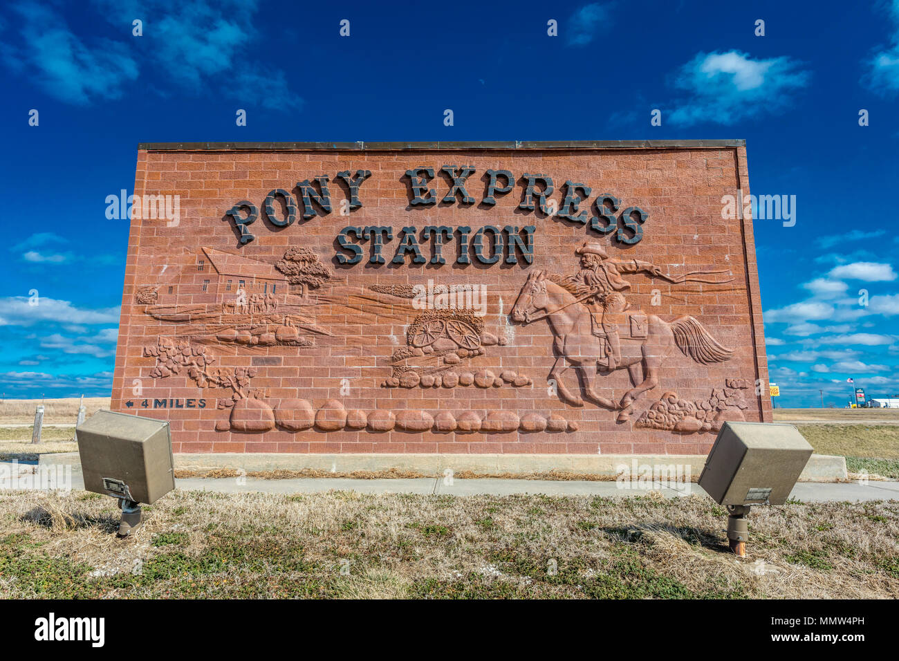 pony express route stock  pony express route stock images alamy