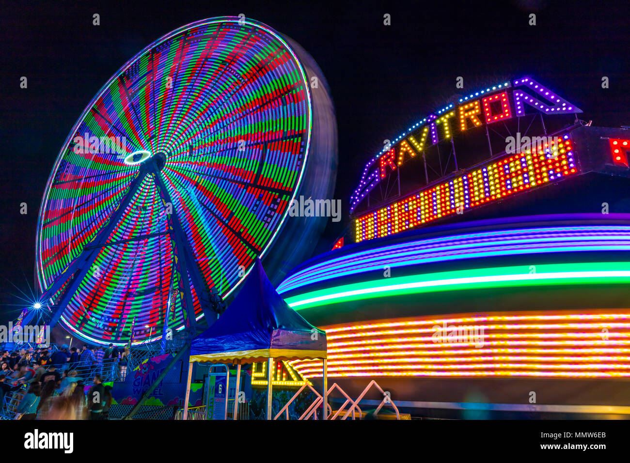 July 18 2017 Ventura California Illuminated Ferris Wheel With