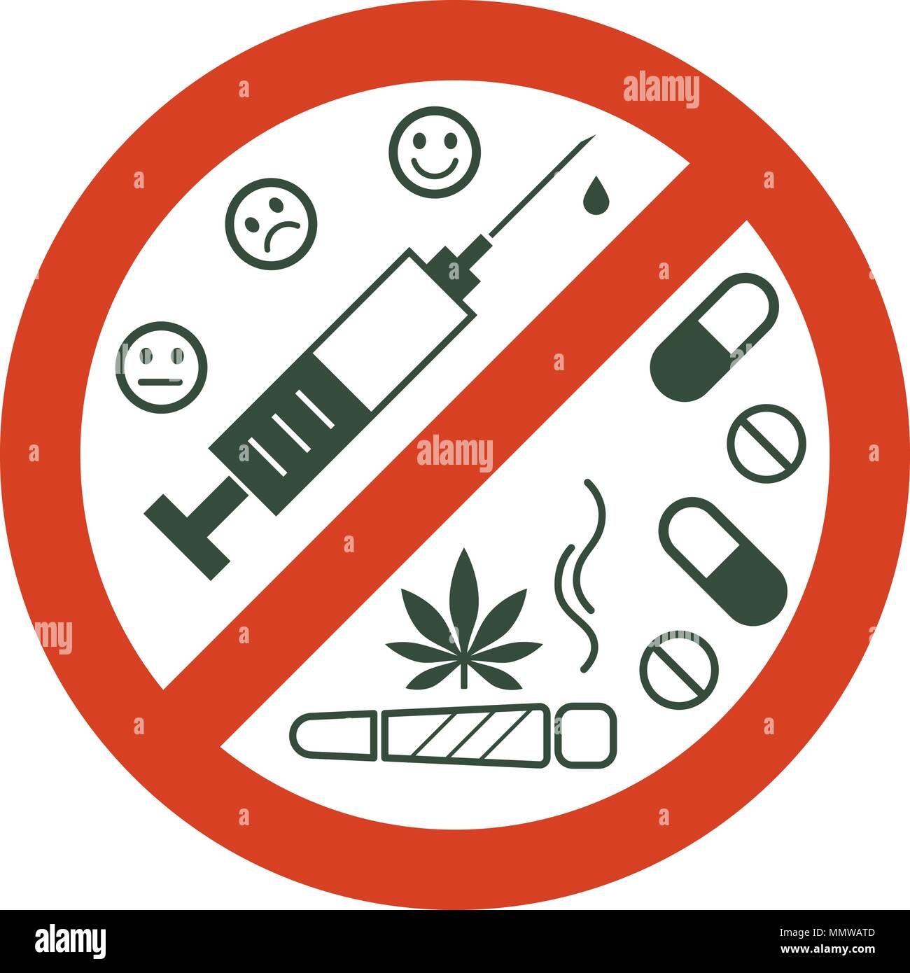 drugs icon high resolution stock photography and images alamy https www alamy com no drugs allowed drugs marijuana leaf with forbidden sign no drug drugs icon in prohibition red circle anti drugs just say no isolated vector image184954125 html