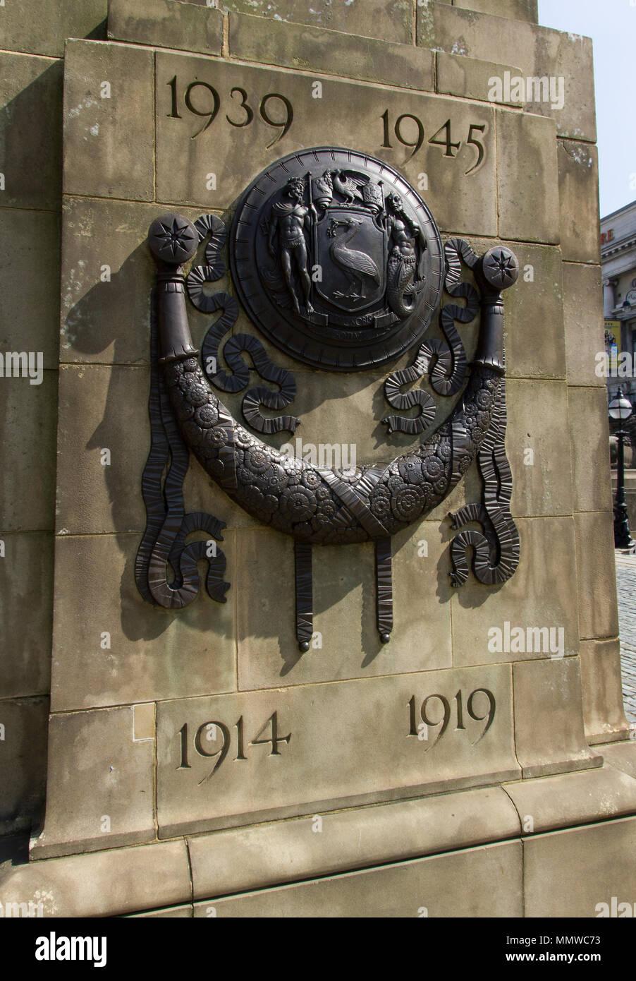 War memorial 1914-19 and 1939-1945, Liverpool - Stock Image