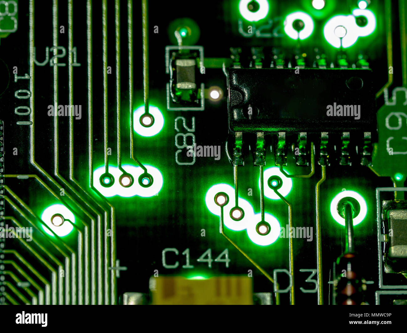 Abstract Backgroundclose Up Green Circuit Board Electronic Motherboard Components Find Computer Hardware Technology Mainboard Background Integrated Communication Pro