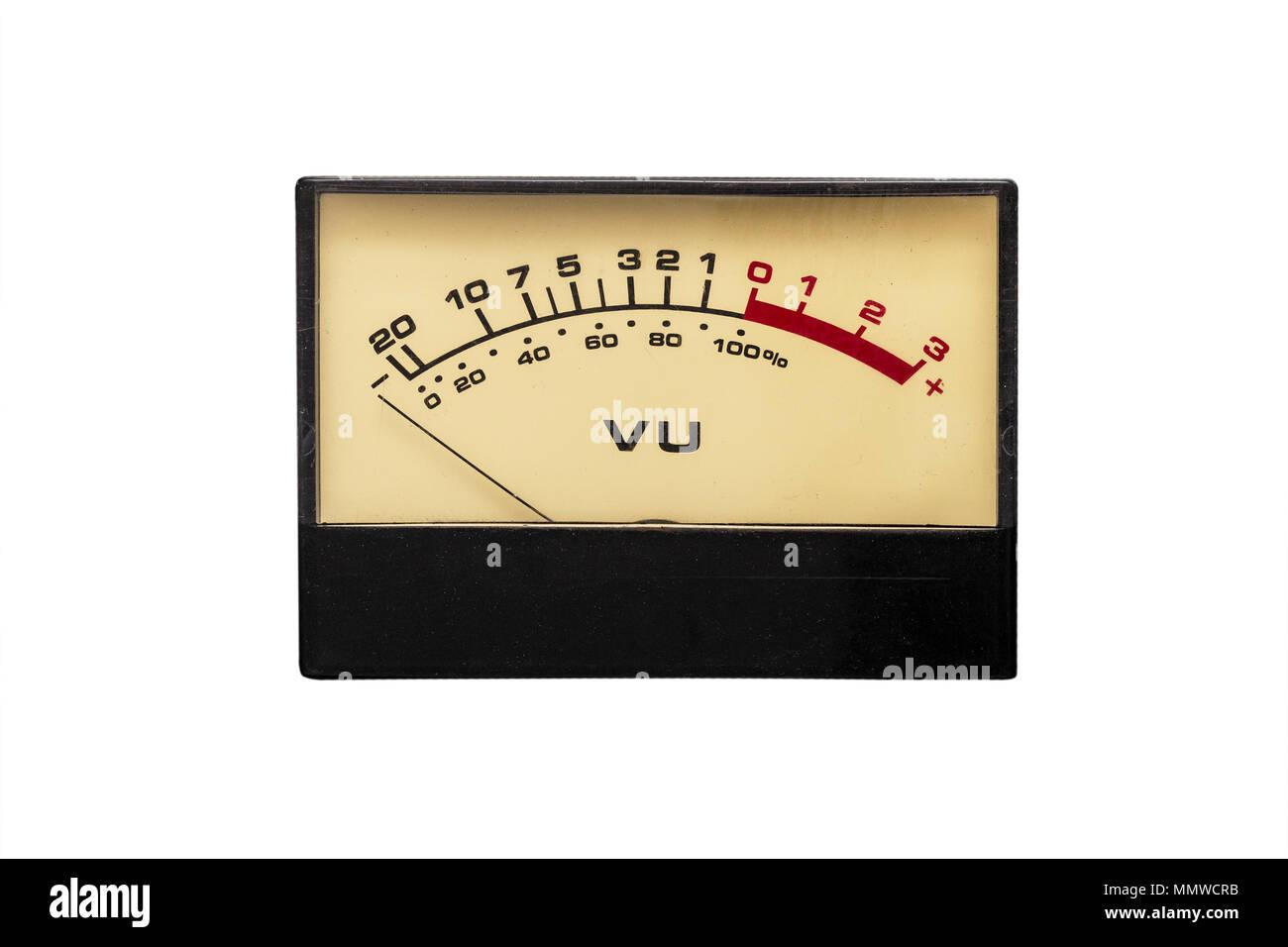 Old analog Dial vu indicator - Stock Image