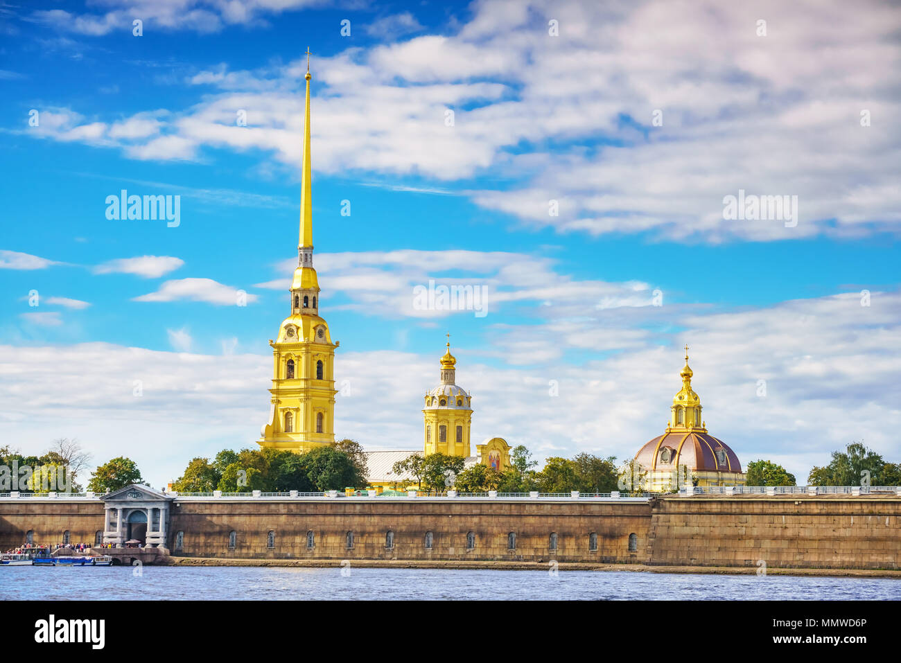 The Peter and Paul Fortress in St.Petersburg - Stock Image
