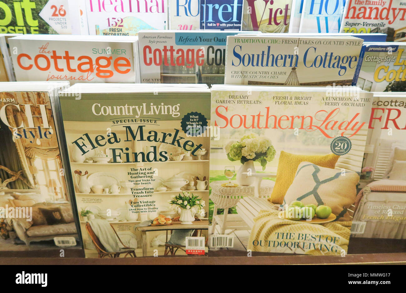 Magazine Stand Featuring Magazine Cover (Covers), USA - Stock Image