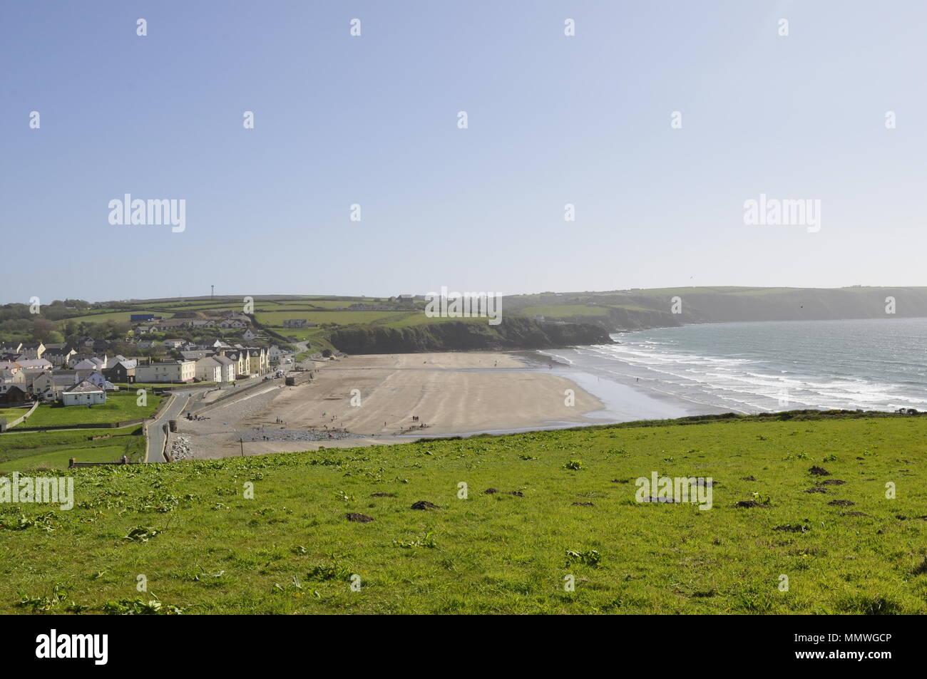 Broad Haven Pembrokeshire Wales, UK - Stock Image