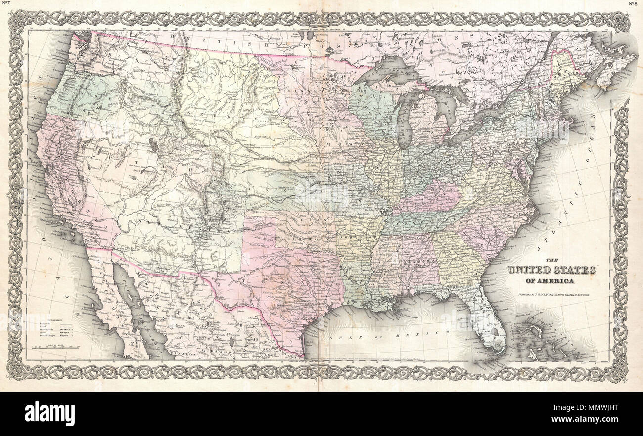 English An Excellent First Edition Example Of Coltons Rare Map Of - Pikes-peak-on-us-map