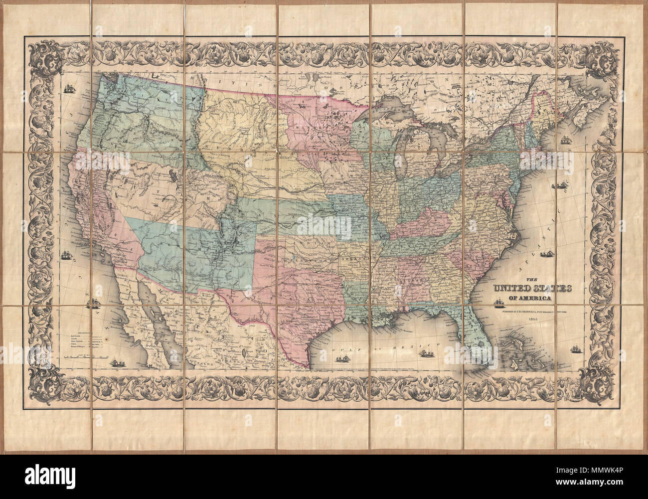 The Oregon Trail Map Stock Photos & The Oregon Trail Map Stock ...