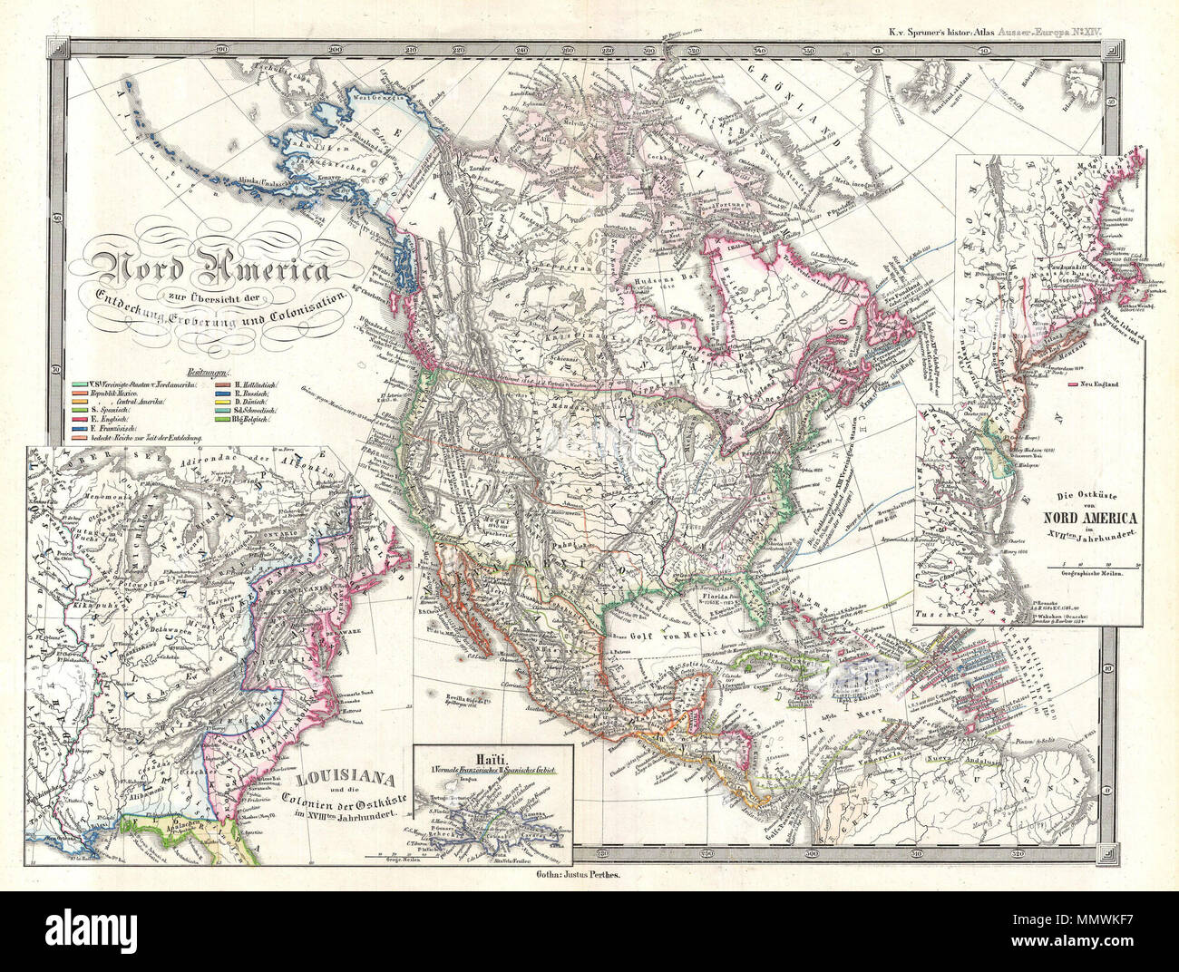 Homeland California Map.English This Is Karl Von Spruner S 1855 Map Of North America With