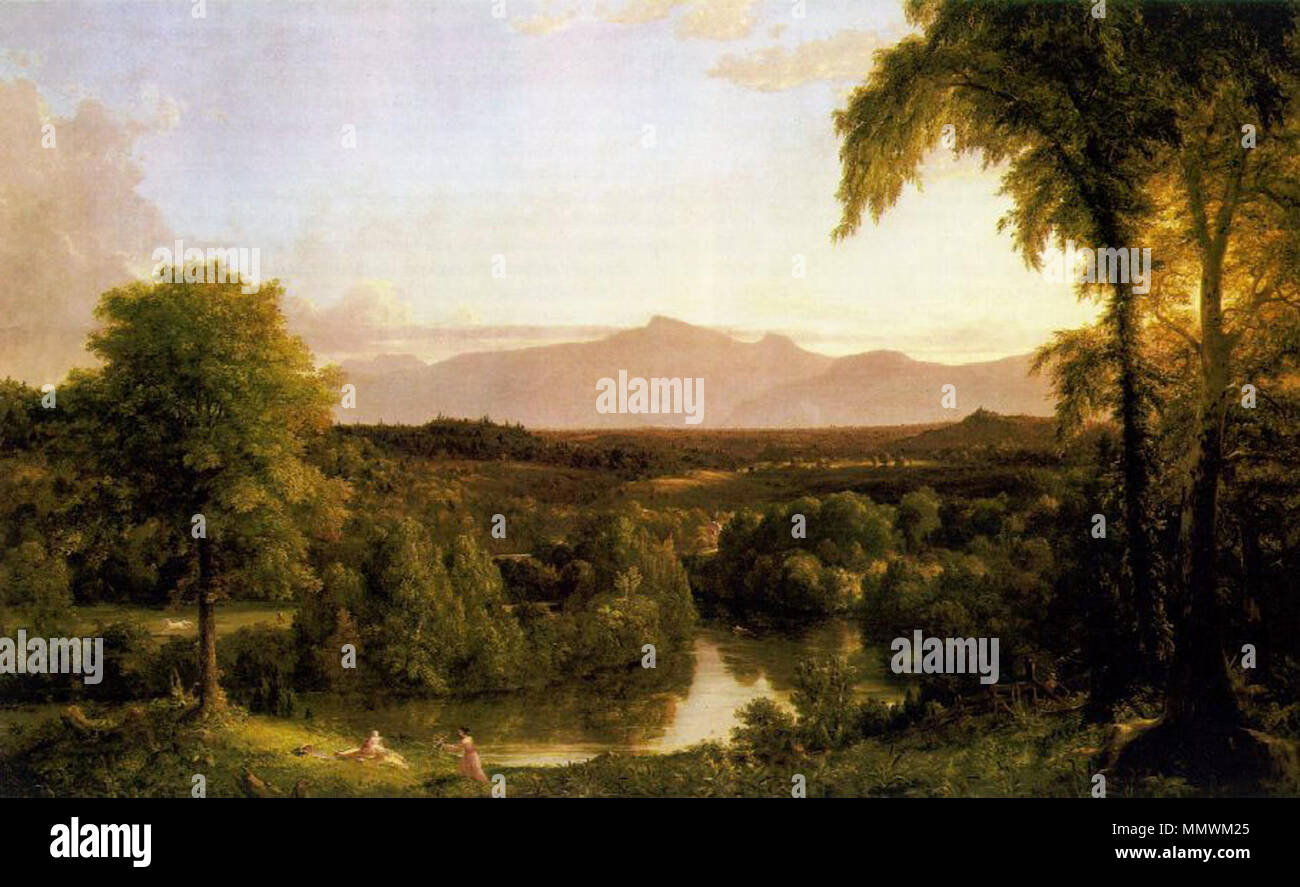 English: View on the Catskill Early Autumn . 1837. Cole Thomas View on the Catskill Early Autumn 1837 Stock Photo