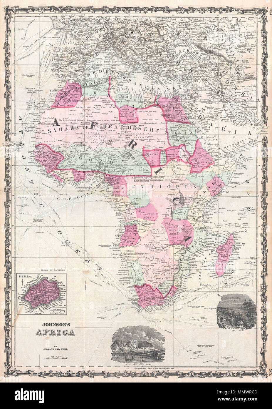 English A Extraordinary And Attractive Example Of Johnsons - Marks lake maps
