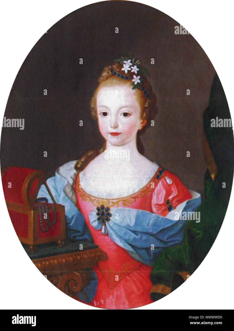 D. Maria Benedita de Bragança (1753) - Francisco Vieira Lusitano - Stock Image