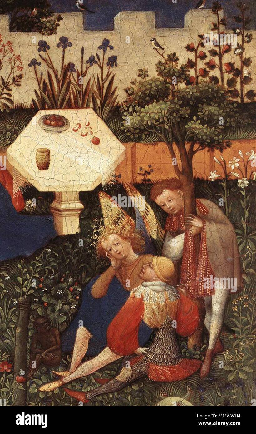 Little Garden of Paradise detail. between circa 1410 and circa 1420 ...