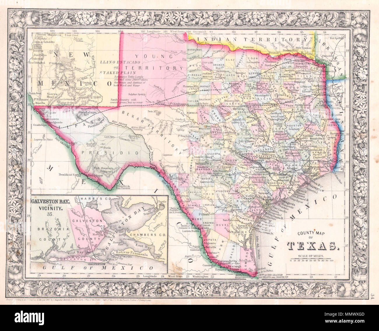 English: A beautiful example of S. A. Mitc Jr.'s 1864 ... on lakes of texas, detailed texas map with cities and towns, well known landmarks in texas, the three branch of texas, us map texas, hotels of texas, all cities in texas, mapquest maps south texas, austin texas, sun of texas, google of texas, weather of texas, detailed texas road atlas, winds of texas, project of texas, republic of texas, borger tx map texas, southern coast of texas, flickr texas, business of texas,