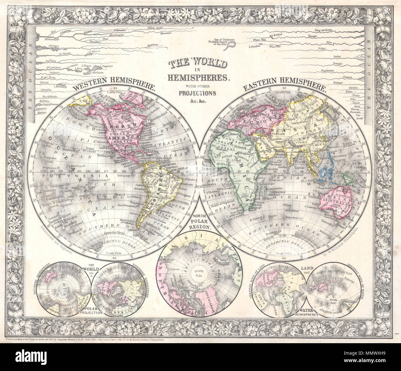 English: A beautiful example of S. A. Mitc Jr.'s 1864 ... on western maps of the world, vintage maps of the world, food maps of the world, abstract maps of the world, historical maps of the world, basic maps of the world, paper maps of the world, light maps of the world, cartoon maps of the world, china maps of the world, cute maps of the world, military maps of the world, wall maps of the world, landscape maps of the world, religion maps of the world, nautical maps of the world, country maps of the world, distorted maps of the world, classic maps of the world,
