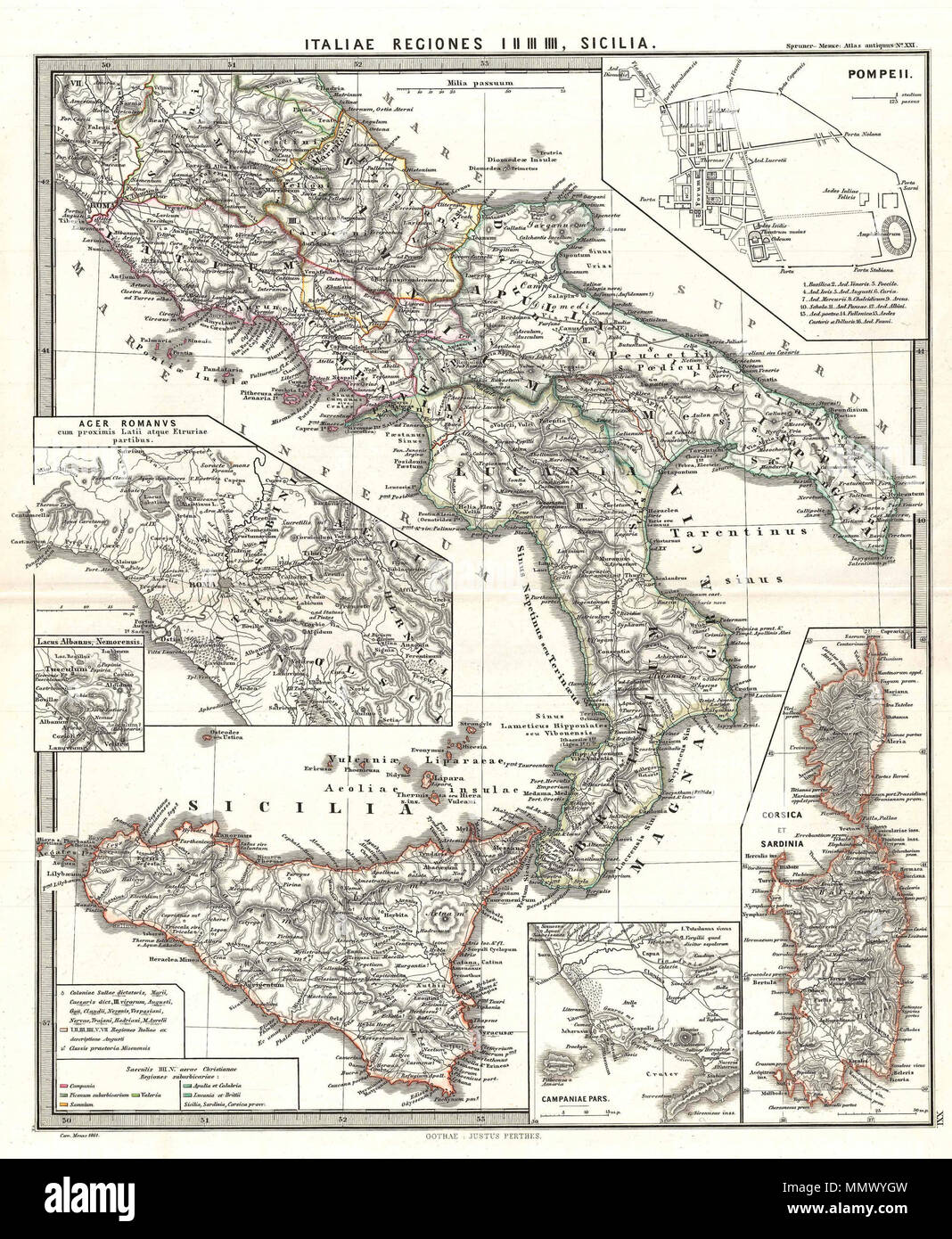 Map Of Southern Italy Regions.English A Particularly Interesting Map This Is Karl Von Spruner S