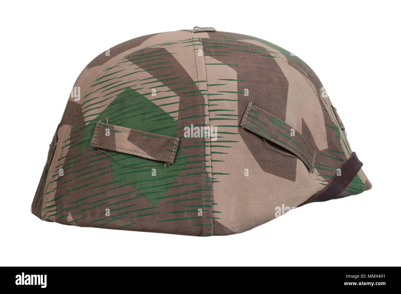 ww2 german army protective helmet - Stock Image