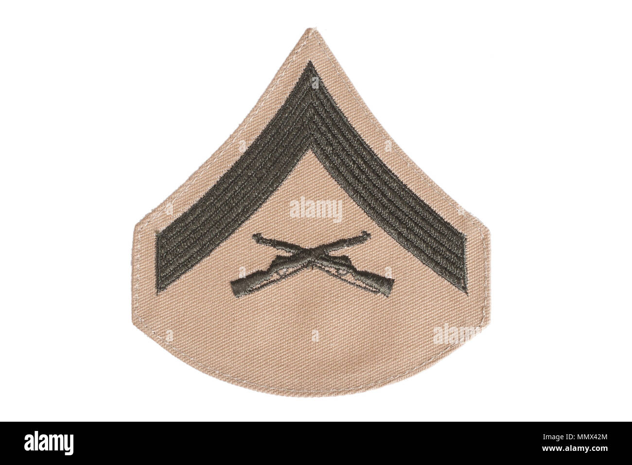 us marines rank patch isolated Stock Photo