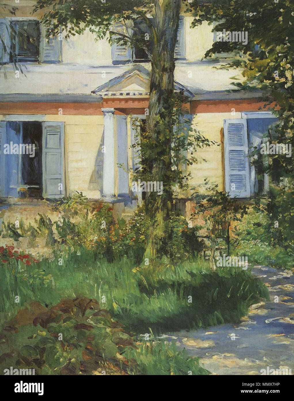 French maison à rueil house in rueil 1882 edouard manet 027