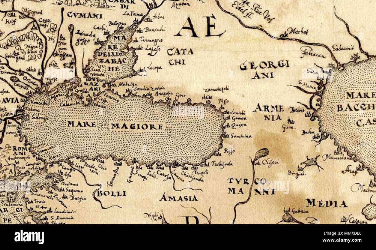 Deutsch: Karte von Europa, Federzeichnung, um 1570 English: Map of Europe .